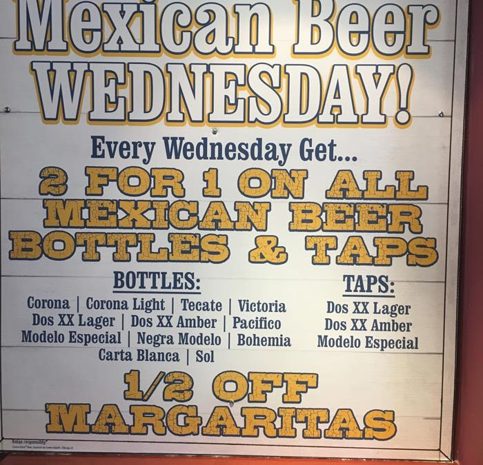 Mexican Beer Wednesday